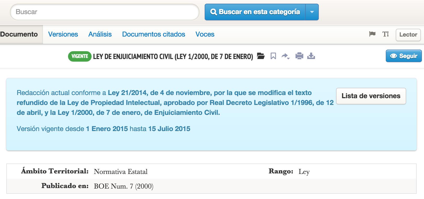 Ley de Enjuiciamiento Civil Ley 1 2000 de 7 de enero vLex España